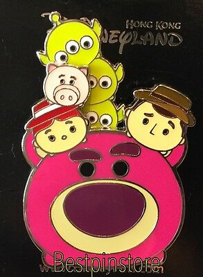 Disney pin - HKDL Tsum Tsum - Toys Story Woody Lotso With Friends