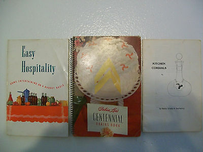 Lot Of 3 Hospitality Vintage Cook Books