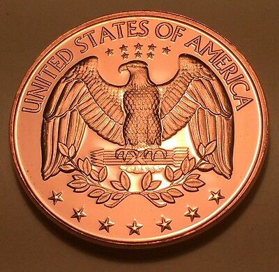 UNITED STATES EAGLE ONE OUNCE (1oz) PURE COPPER ROUND (COIN)
