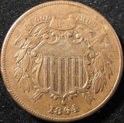 P992 - 1864 - Us - Two Cent Coin - Nr