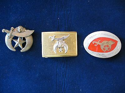 Vintage Shrine Belt Buckles (3)