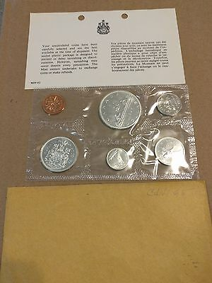 1965 Royal Canadian Mint Proof-Like 6 Coin Set with Original Envelope
