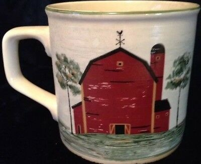 Tienshan Coffee Mug Cup Stoneware Prairie Red Barn Replacement