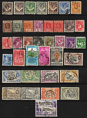 Nigeria Collection of 38 Used Inclding #91 ( E684 )