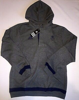 Official Olympic Team GB Fleece Hoodie Sweat Shirt Training ATHLETE ISSUE BNWT L