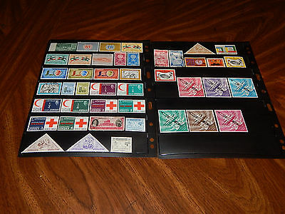 Jordan stamps - 43 mint hinged and used early stamps - great group !!
