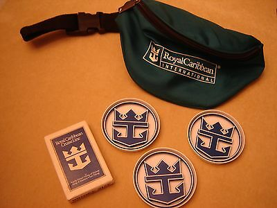 Vintage Royal Caribbean Fanny Pack, Playing Cards and Coasters
