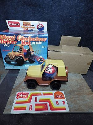 Playskool Dizzy Driver Jeep CJ 1983 NIB Toy With Driver + Decals