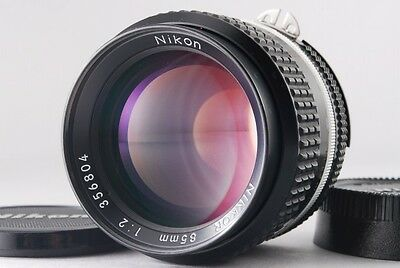 Excellent+++++ Nikon Ai-S Nikkor 85mm F2 AIS MF Lens F mount From Japan 1159934