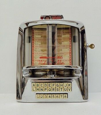 Seeburg Wall-O-Matic 160 Remote Jukebox 1959 Wall Box Chrome 1950s Diner Decor