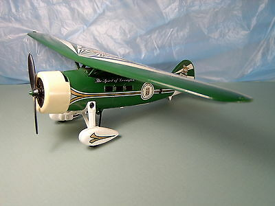 """VALVOLINE AIRPLANE BANK by ERTL, GREEN and WHITE, 12"""" WING SPAN, very nice"""