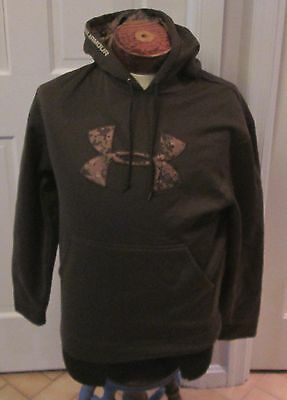 Men's Under Armour Hooded Sweatshirt - Small Hoodie - Brown
