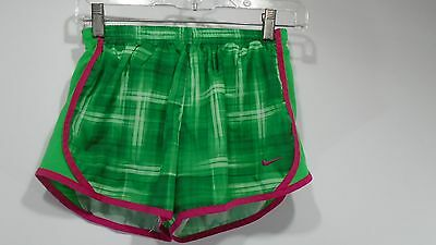 Youth Girls Nike Printed Tempo Dri-FIT Run Short Running Green Large 438995-322