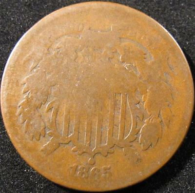 P886 - 1865 - Us - Two Cent Coin - Nr