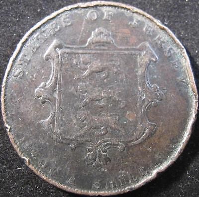 Gb26 - 1861 - Jersey - 1/13 Shilling Coin - Nr