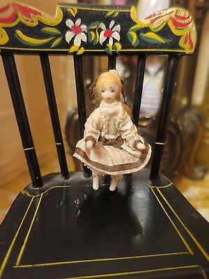 Tiny Antique Style Bisque Porcelain Dollhouse Doll's Doll Miniature Victorian
