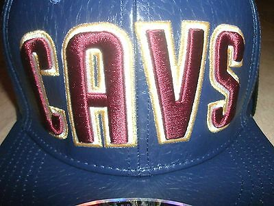 $100 Cleveland Cavaliers Leather Hat Cavs Nba Jersey-Clr Lebron Kyrie M L Xl Xxl