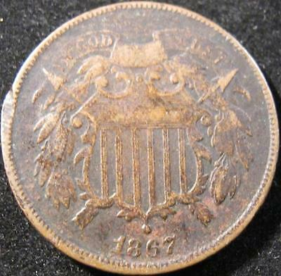 P871 - 1867 - Us - Two Cent Coin - Nr