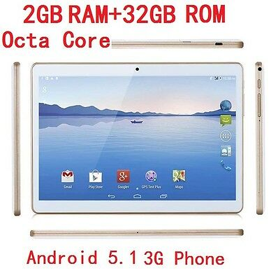 2017 10.1'' 3G 32GB Dual SIM Call Phone Android 5.1 Octa Core Tablet PC IPS WIFI