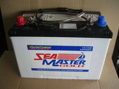 Supercharge Sea Master Gold Marine Boat Batteries Mfm70 Brand New 2Yrs Warrant