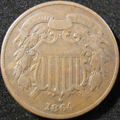 P867 - 1864 - Us - Two Cent Coin - Nr