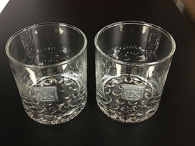 TWO 2 CUTTY SARK PEWTER WHISKEY ROCKS GLASS GLASSES  - The Real McCoy Exc Cond