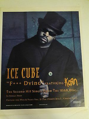Ice Cube Music Ad Korn Hit Single War Disc Full Page Advert
