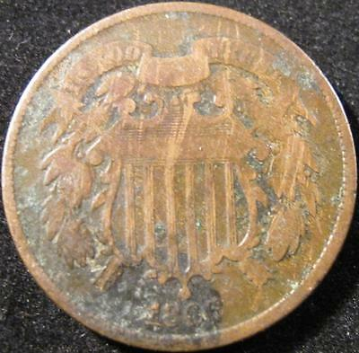 P864 - 1866 - Us - Two Cent Coin - Nr
