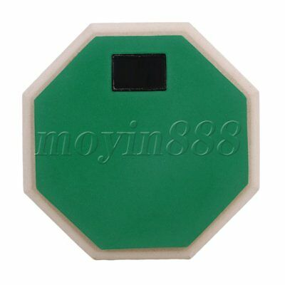 "Green 6"""" Double Sided Snare Dumb Drum Practice Pad Realistic Feel"