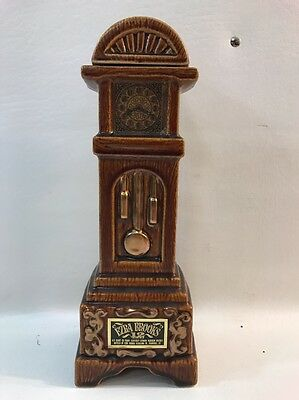 Vintage 1970 Ezra Brooks Grandfather Clock Whisky Decanter