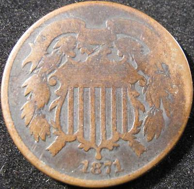 P861 - 1871 - Us - Two Cent Coin - Nr