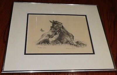 Vintage SIGNED M Muldofsky Horse Lithograph Limited Edition