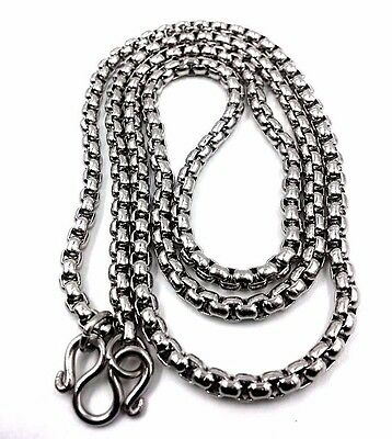 """Amulet Thai Solid Stainless Necklace Pendant Chain Buddha Immaculate  24 gm 26"""""""