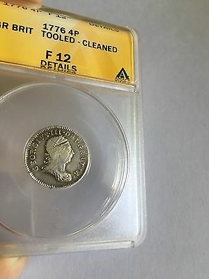 1776 Great Britain 4 Pence, Groat - ANACS F12 Details