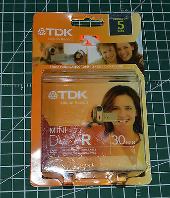 4 Pack TDK 1.4GB 1-2X Mini DVD-R Blank Media Disc For Camcorder in Jewel Cases