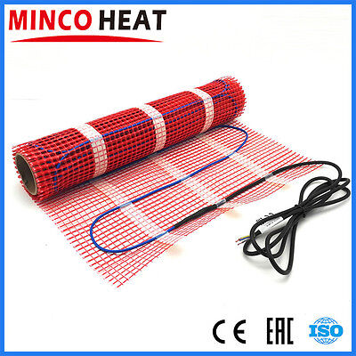 Electric Underfloor Heating Mat Dual-core All Sizes 230V 150W/sqm + Thermostat