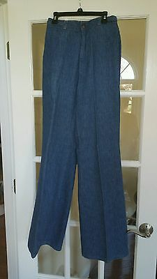 Levi's 70s Women Braided High Waist Jeans Size 10 Vintage Wide Leg Made in USA