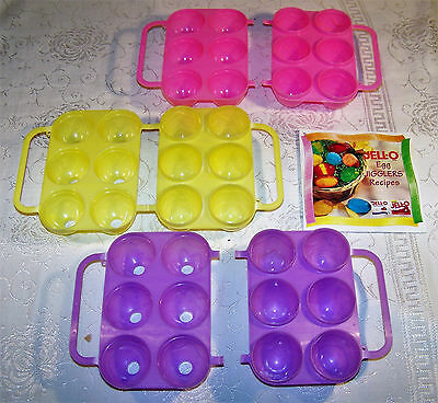 Jello Jigglers 3D Easter Egg Molds, Shooters/Shots 3 Sets Lot Textured 1998