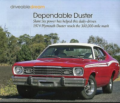 1974  PLYMOUTH DUSTER TWISTER 4 page  Color Article