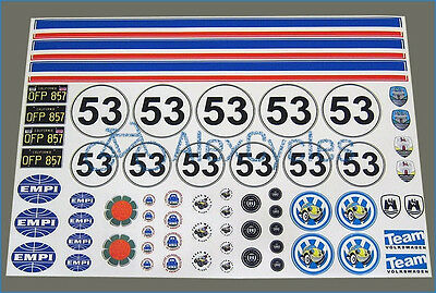 HERBIE VW Volkswagen Decals Kit Sand Scorcher Tamiya Stickers 10th Scale 1:10