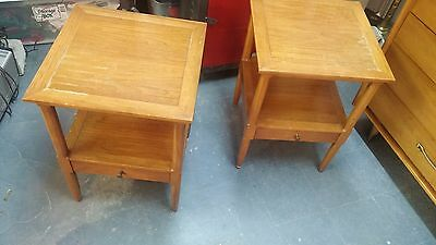 Pair (2) Vtg Tomlinson Sophisticate Night Stands/ End/ Tables Mid Century Modern