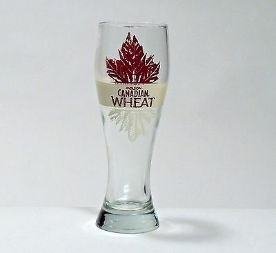 Rare Vintage Molson Canadian Wheat Beer Glass Autumn Tones 13 oz /.38 Liters