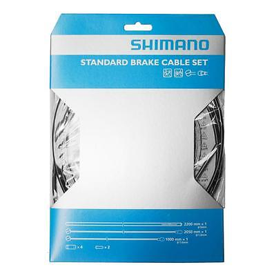 Workshop Made Shimano MTB Brake Cable Set Kit Galvanized Y80098022 BLACK