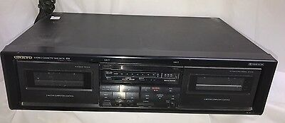 Onkyo Ta-W111 Stereo Double Cassette Tape Deck - Good Condition