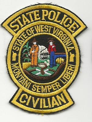 WEST VIRGINIA STATE Police patch Civilian