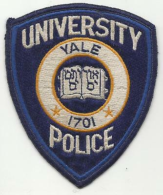 Yale University CONNECTICUT CT Police patch OLD fully embroidered college school