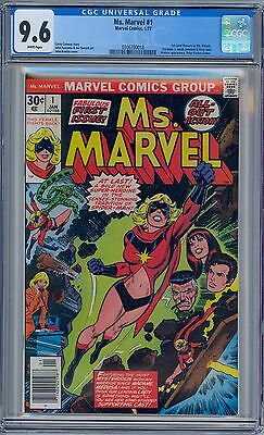 MS MARVEL #1 - CGC 9.6 - NM+ White Pages Carol Danvers
