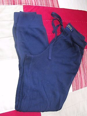POLO~Ralph LAURENNavy Blue~THERMAL~Waffle KNIT~Sleepwear~PJ~LOUNGE Pants~Sz S