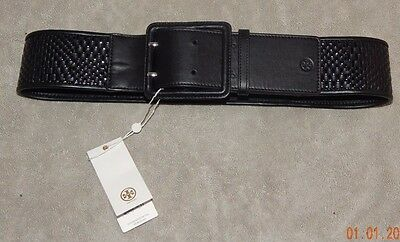 Tory Burch Genuine Leather Basket Weave Belt- Size Large- Nwt-$235