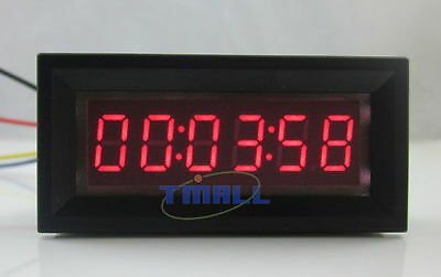 12V DC Red LED Digital Timer Totalizer Hour Chronometer industrial  Meter Panel